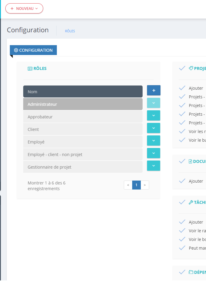 Models management module in TIMETRACKER