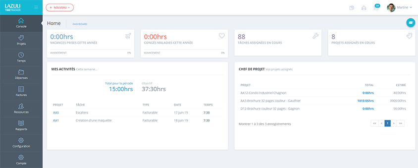 Manage Projects with TIMETRACKER